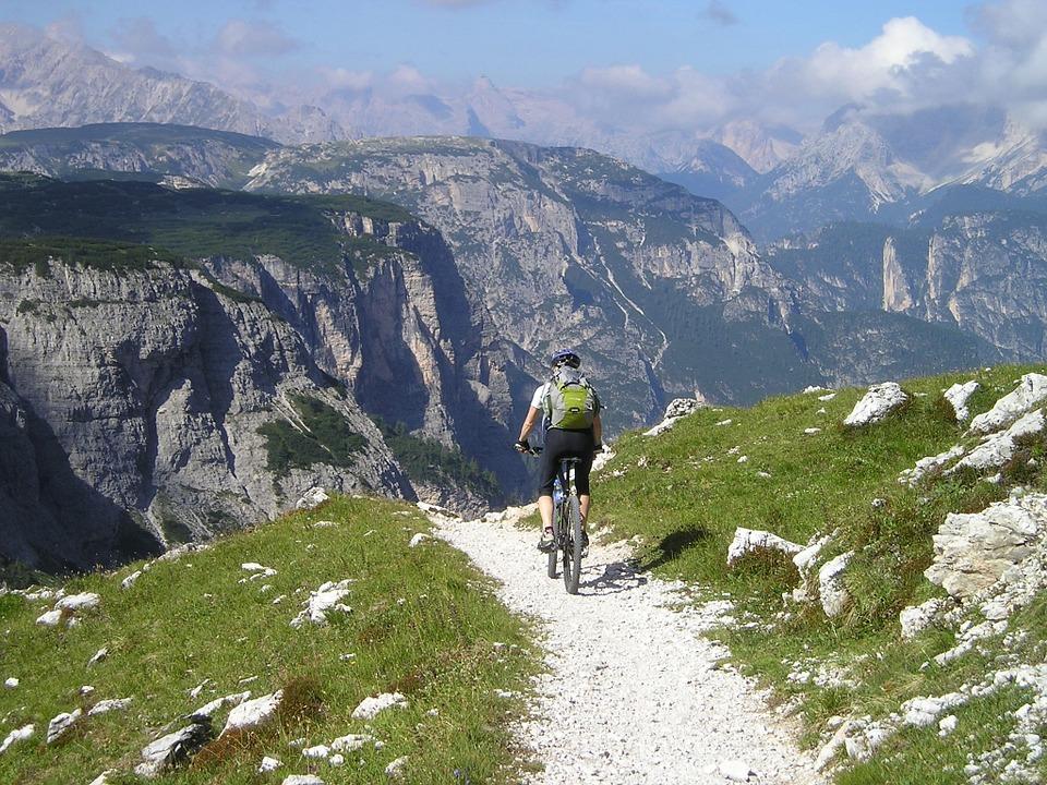 horské kolo v horách