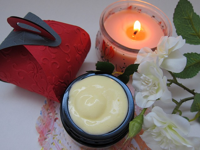 svíčka a krém